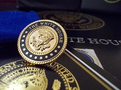 Tie Clip - Tie Bar - White House 24K Gold Plated- Presidential Seal