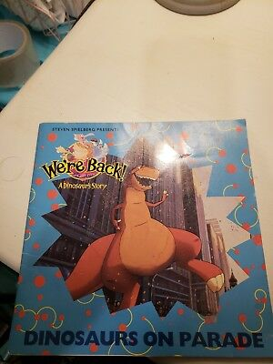 Steven Spielberg Presents Were Back A Dinosaur Story book, used