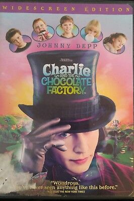 Charlie and the Chocolate Factory (2005 DVD)  Good, - Fast Free S&H