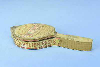 Antique 1871 STOVE POLISH PASTE WOODEN BOX with LID & CONTENTS & DIRECTIONS OLD