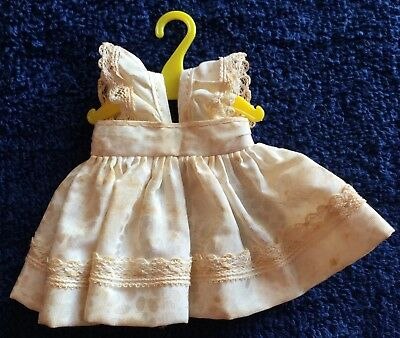 Vintage 50s 60s Beige Virga Style Doll Dress~Ginny Vogue Muffie Ginger Alex Doll