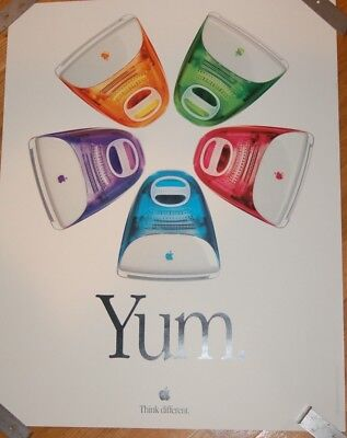 Authentic Apple YUM Think Different Poster 1999
