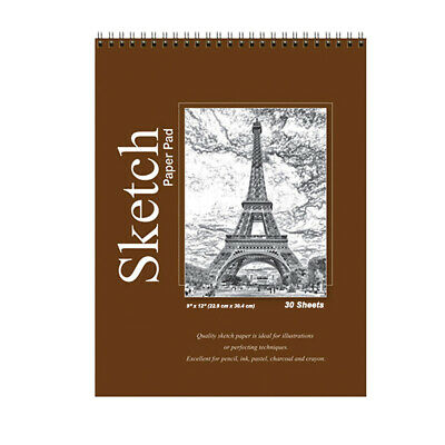 Quality Sketch Paper Book Pad, 9 x 12 inches, Each 30 Sheets Drawing Artist