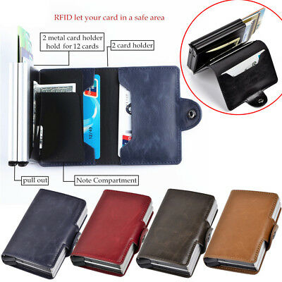RFID Protect Leather Passport Holder Case Cover Wallet For Securely Travel Trip