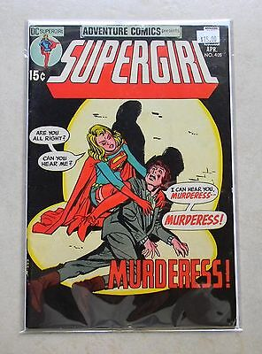 "Adventure Comics #405 (1971, DC) $15.00 6.5 FN+ OW/WHITE ""Supergirl Murderess!"""