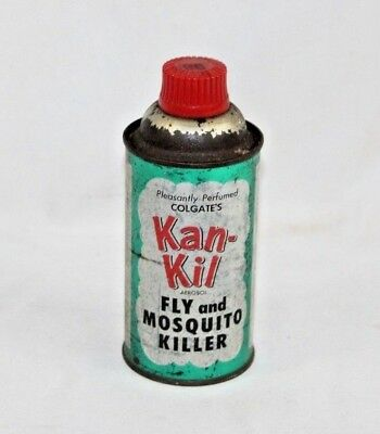 Vintage 1960 Colgate's Kan-Kil Insect Mosquito Fly Killer Bug Spray Cone Top Can