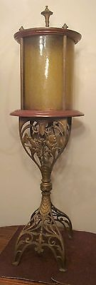 huge rare antique 1800's cast iron wood glass floor religious church tabernacle