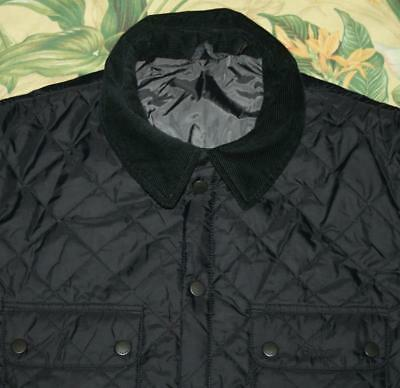 Mens BARBOUR Navy Quilted Akenside Jacket Coat XXL