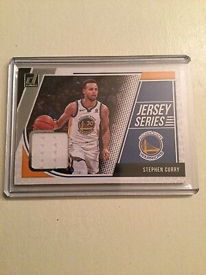 2018-19 Donruss Basketball Jersey Series Steph Curry Game Used GU RELIC WARRIORS