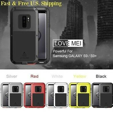 New LOVE MEI Armor Heavy Duty Aluminum Shockproof Case for Samsung Galaxy S9/S9+