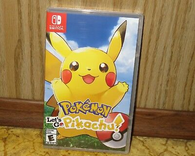 Nintendo SWITCH - POKEMON LET'S GO PIKACHU (Brand NEW Sealed) FREE Ship USA