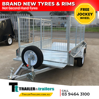 7x5 CAGE TRAILER – GALVANISED – 3FT CAGE - HEAVY DUTY - NEW WHEELS AND TYRES