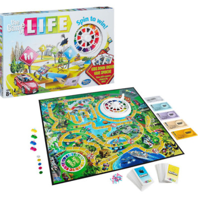 2018 THE GAME OF LIFE FAMILY BOARD GAME COMPLETE mka