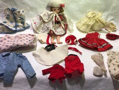 "Vintage 1950s American Character Betsy McCall 8"" Doll Clothing Lot Outfits Parts"