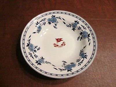 Reproduction dish from the Titanic with boarding passes