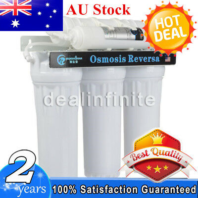 Premium 5 Stage Undersink Water Filter System Driking Home RO Membrane Purifier
