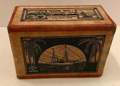 RARE! Collection Box- Support Missionary Ships/LMS Fleet of Peace South Seas1926