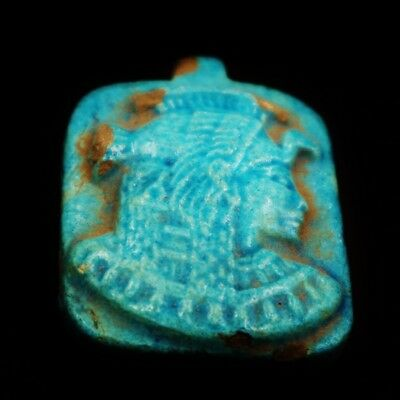 Rare Ancient Egyptian Faience Amulet Figurine, 300 BC