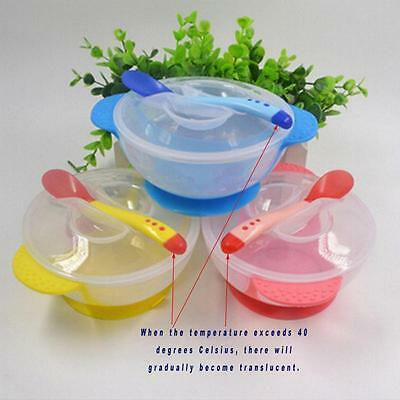 Baby Toddler Suction Bowl Weaning Bowl & Soft Tip Feeding Spoon Tableware SK