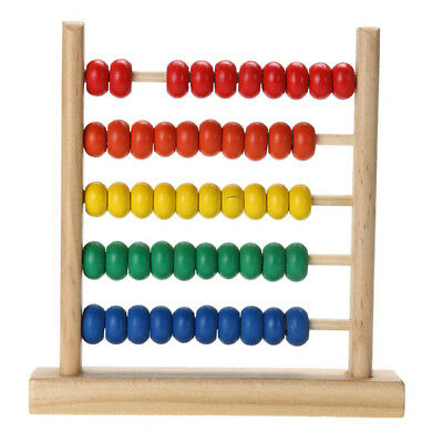 Wooden Abacus Beads Rainbow Educational Preschool Math Learning Counting Toy SK