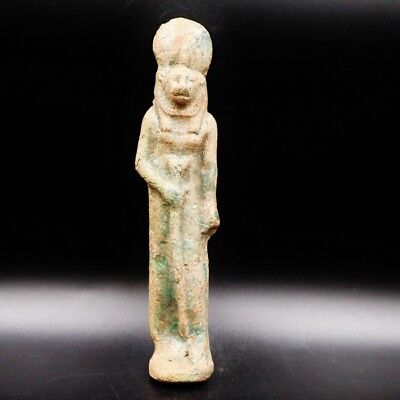 Fine Antique Faience Ushabti (Shabti) Statue Figure of Ancient Egyptian