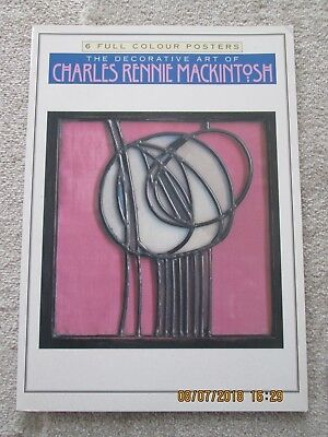 Charles Rennie mackintosh RARE Posterbook with 6 Coloured Prints