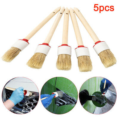 5pcs Soft Detailing Brushes for Car Cleaning Vents/Dash/Trim/Seats/Wheels