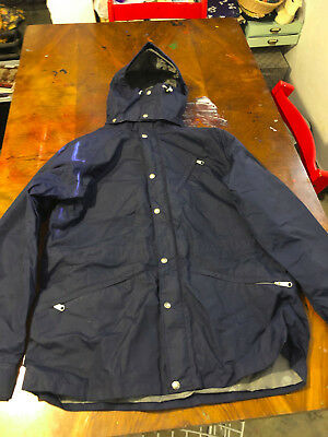 Vintage The North Face TNF Made In USA Lightweight Hooded Jacket Navy RARE