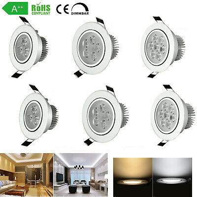 8x 4x 3W 5W 7W Dimmable LED Blanc Spot Encastrable Ampoule Downlight Plafonnier