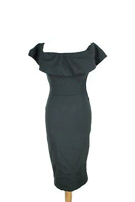 25ddabba ZARA BNWT RRP 49 off-shoulders sleeve stretchy pencil tight dress size S