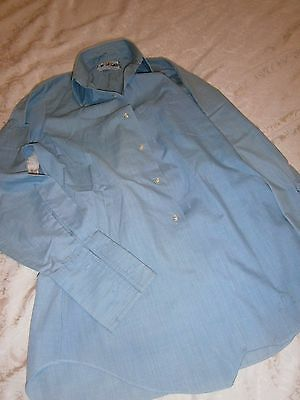 Vintage Mens Whitmont Pp Brand 14.5 Inch / 37 Cm Neck Blue Business Shirt