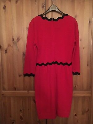 stunning rare vintage Moschino Wool party cocktail dress size 10/12 red