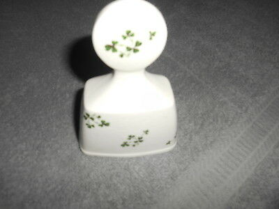 Carrigaline Pottery - Cork Ireland - Bell With Green Clovers
