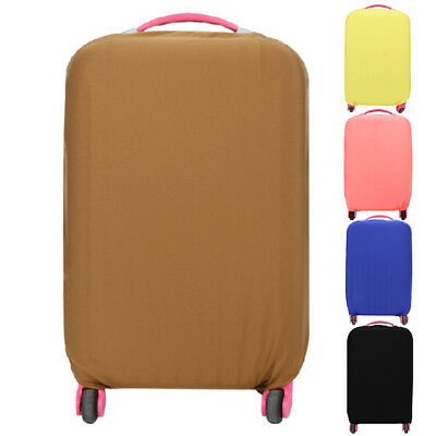 Elastic Luggage Suitcase Cover Dustproof Protector Covers Solid Color Travel New