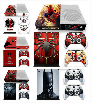 Deadpool Spiderman Batman DECAL Skin Sticker for Xbox One S Console &Controllers