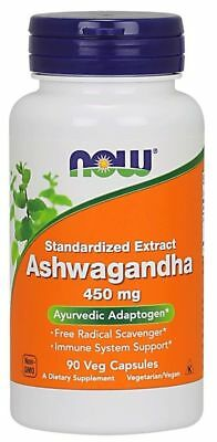 Now Foods  Ashwagandha 450 mg 90 vcapsules Stress Anxiety Fatigue Immne
