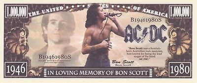 Ac/dc Bon Scott Memorial Novelty Dollar