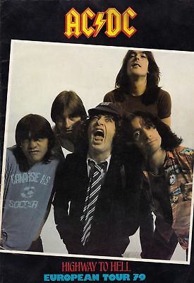 "Rare Ac/dc 1979 ""highway To Hell"" European Tour Program"