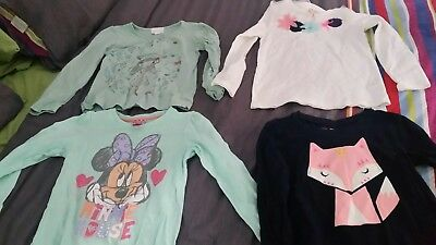 4 x size 5 long tops.Pumpkin patch, Minnie Mouse, Cotton On Kids