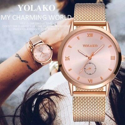 Women Lady Girl Wrist Quartz Watch Round Alloy Case Simple Fashion Gift For Busi