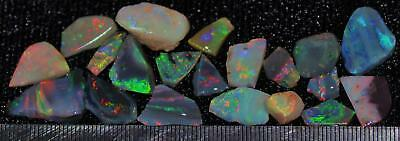 56.65Cts Solid Gem Quality Lightning Ridge Rough And Rough Rubbed Opal Parcel