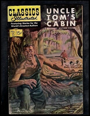Classics Illustrated #15 G+  Hrn137  (Uncle Tom's Cabin) Free Ship On $15 Order!