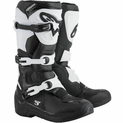 2018 Alpinestars Tech 3 Enduro MX Boots - Black & White