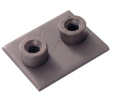 Twin Tube Clamp Weld Base Plate Group 5 Size Pk2