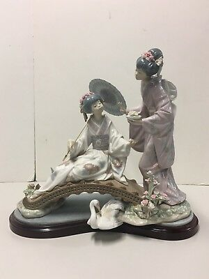 """Lladro #1445 """"Springtime in Japan"""" Mint Condition with Original Box"""