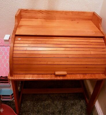 Antique Roll Top Childs Desk