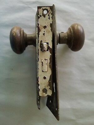 Vintage Antique Sargent Mortise Lock with Door Knobs