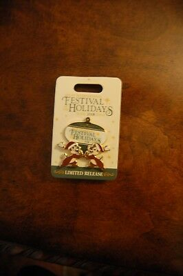 Disney EPCOT FESTIVAL OF HOLIDAYS 2018 Trading Pin Chip & Dale Ornament LR