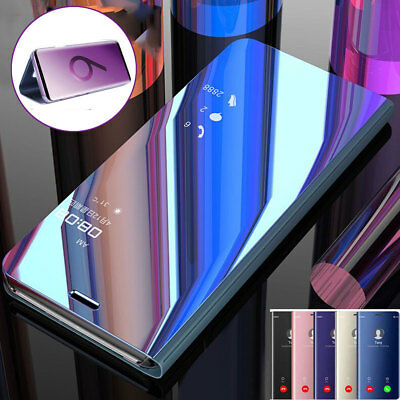 360° Full Cover Clear View Mirror Case for One Plus 6T Flip Leather Stand Wallet