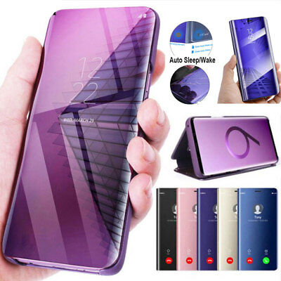 For One Plus 6T 6 Clear View Mirror Case Shockproof Flip Leather KickStand Cover